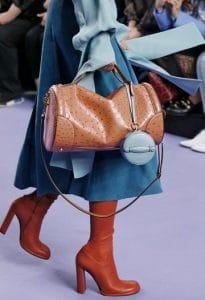 Mulberry Camel Ostrich Trunk Barrel and Castle Blue Silky Calf Mini Trunk Bags - Fall 2017