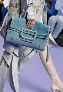 Mulberry Castle Blue Silky Calf and Suede Brimley Envelope Bag - Fall 2017