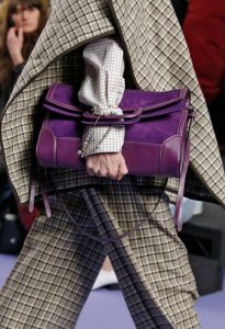 Mulberry Dark Violet Silky Calf and Suede Brimley Envelope Bag - Fall 2017
