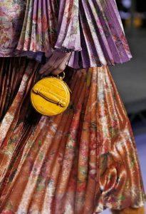 Mulberry Gold Ochre Croc Print Mini Trunk Bag - Fall 2017