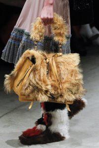 Prada Beige Fur Satchel Bag - Fall 2017