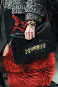 Prada Black Satin Embellished Clutch Bag 3 - Fall 2017