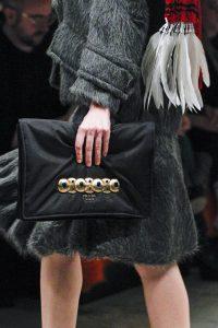 Prada Black Satin Embellished Clutch Bag - Fall 2017