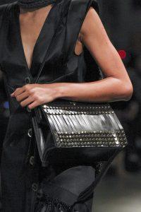 Prada Black Tasseled with Studs Shoulder Bag - Fall 2017