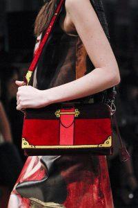 Prada Black/Red Suede Painted Cahier Bag 2 - Fall 2017