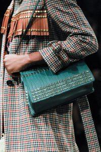 Prada Green Tasseled with Studs Shoulder Bag - Fall 2017
