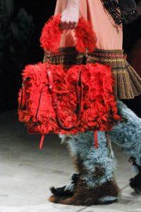 Prada Red Fur Satchel Bag 2 - Fall 2017