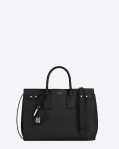Saint Laurent Black Medium Sac De Jour Souple Bag