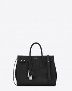 Saint Laurent Black Small Sac De Jour Souple Bag