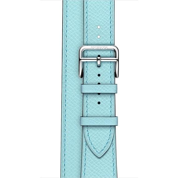 Apple Watch Hermès - 38mm Bleu Zéphyr Epsom Leather Double Tour - Regular