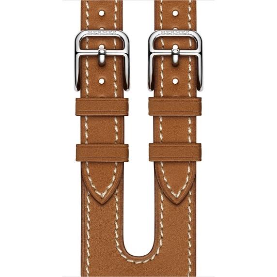 Apple Watch Hermès - 38mm Fauve Barenia Leather Double Buckle Cuff