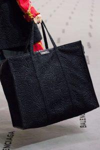 Balenciaga Black Astrakhan Bazar Shopper XL Bag - Fall 2017