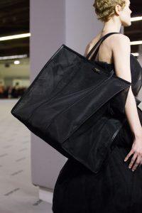 Balenciaga Black Mesh Bazar Shopper XL Bag - Fall 2017