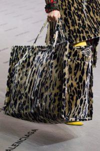 Balenciaga Leopard Print Bazar Shopper XL Bag - Fall 2017