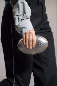 Balenciaga Silver Metal Oval Case Clutch Bag 2 - Fall 2017