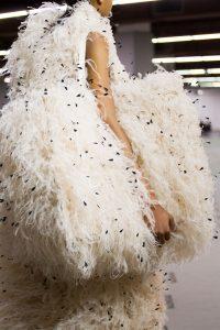 Balenciaga White Fur Bazar Shopper XL Bag - Fall 2017