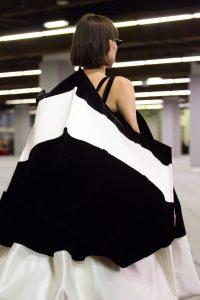 Balenciaga White/Black Striped Bazar Shopper XL Bag - Fall 2017