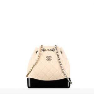 Chanel Beige/Black Gabrielle Backpack Bag
