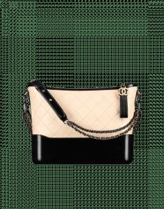 Chanel Beige/Black Gabrielle Hobo Bag