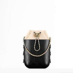 Chanel Beige/Black Gabrielle Purse Bag