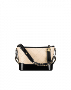 Chanel Beige/Black Gabrielle Small Hobo Bag