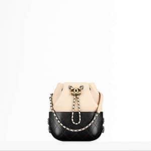 Chanel Beige/Black Small Gabrielle Purse Bag