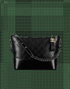 Chanel Black Gabrielle Hobo Bag