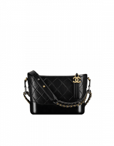 Chanel Black Gabrielle Small Hobo Bag