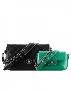 Chanel Black Large and Dark Green Mini Rock My Shoulder Bags