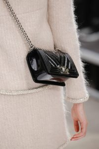 Chanel Black Patent Chevron Boy Bag - Fall 2017