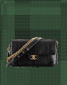 Chanel Black Python Large Rock My Shoulder Bag