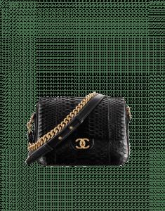 Chanel Black Python Medium Rock My Shoulder Bag