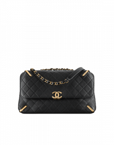 Chanel Black Quilted Lambskin Flap Bag