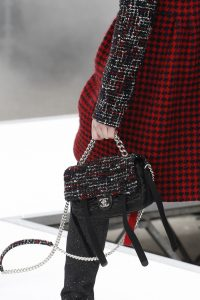 Chanel Black Satin/Tweed Flap Bag - Fall 2017