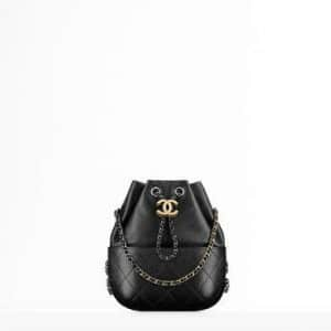 Chanel Black Small Gabrielle Purse Bag
