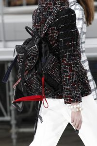 Chanel Black/Red Tweed/Satin Backpack Bag 2 - Fall 2017