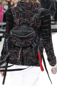 Chanel Black/Red Tweed/Satin Backpack Bag - Fall 2017