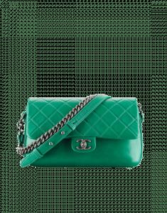 Chanel Dark Green Large Rock My Shoulder Bag