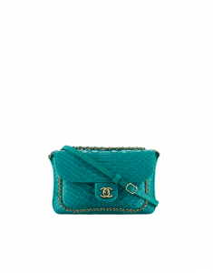 Chanel Green Python CC Unchained Mini Flap Bag