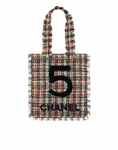Chanel Multicolor Tweed Large Shopping Bag