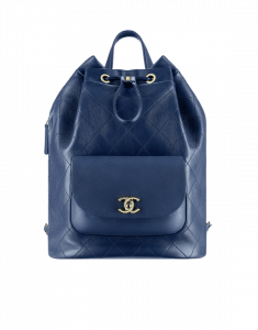 Chanel Navy Blue Daily Round Backpack Bag