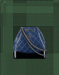 Chanel Navy Blue/Black Gabrielle Backpack Bag