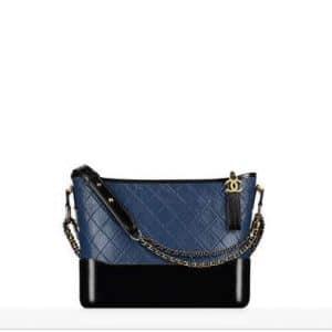 Chanel Navy Blue/Black Gabrielle Hobo Bag