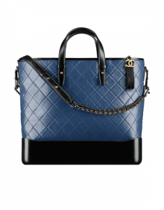 Chanel Navy Blue/Black Gabrielle Large Shopping Bag