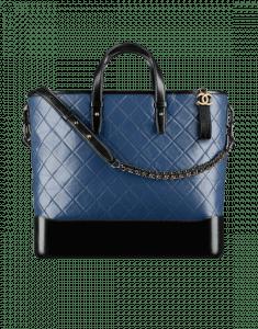 Chanel Navy Blue/Black Gabrielle Large Shopping Bag