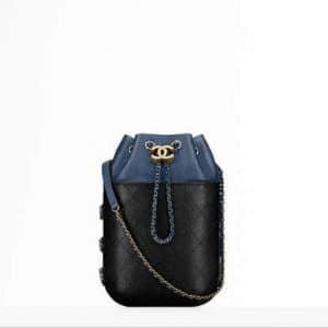 Chanel Navy Blue/Black Gabrielle Purse Bag