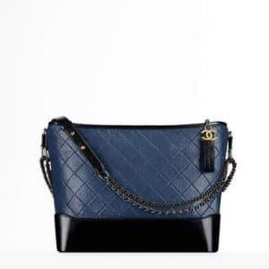 Chanel Navy Blue/Black Large Gabrielle Hobo Bag
