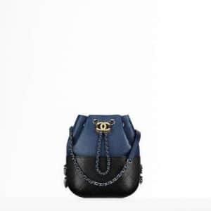 Chanel Navy Blue/Black Small Gabrielle Purse Bag