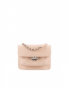 Chanel Nude Grained Calfskin Small Flap Bag
