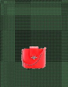 Chanel Orange Python Mini Camera Case Bag
